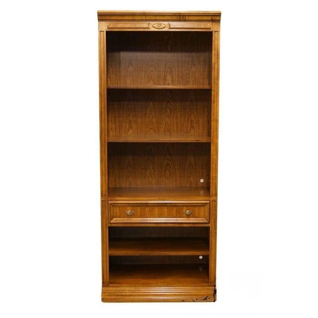 "Brown Bernhardt Country French 32"" Wall Unit Bookcase For Sale - Image 8 of 8"