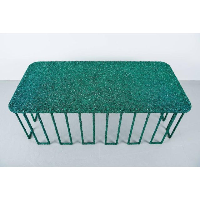 Hand Made Coffee Table of Crushed Malachite of the Congo, by Samuel Amoia For Sale - Image 10 of 10