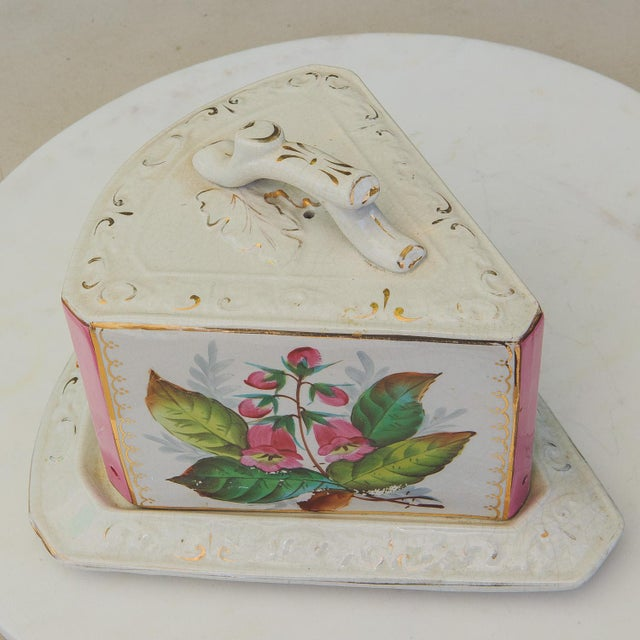 Antique Porcelain Covered Cheese Keep For Sale In Palm Springs - Image 6 of 12