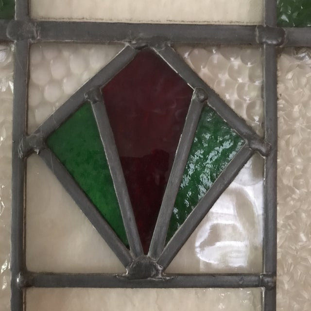 Antique Cottage Stained Glass Window - Image 5 of 9
