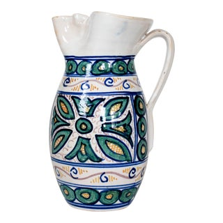 Hand Painted Spanish Pitcher