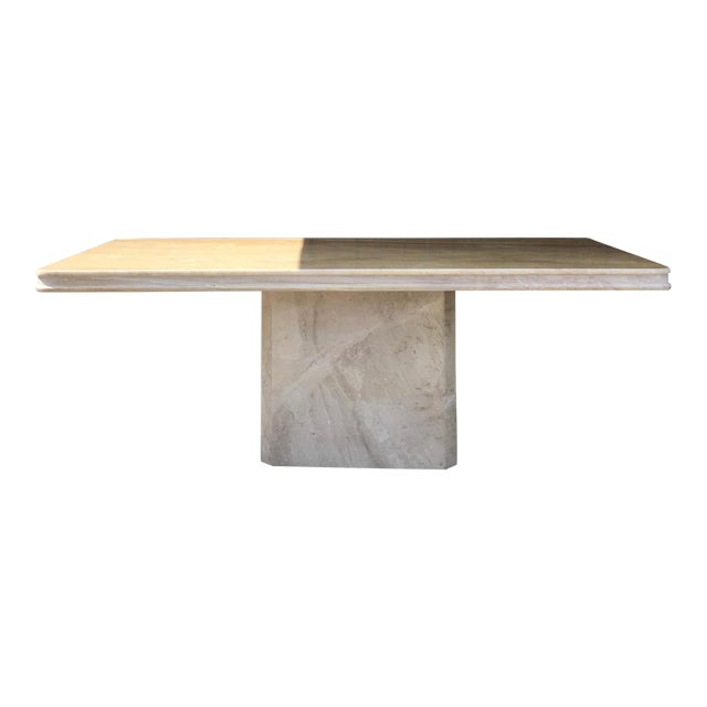 1960s Italian Travertine Dining Table For Sale