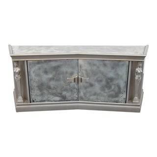 James Mont Mirrored Cabinet For Sale