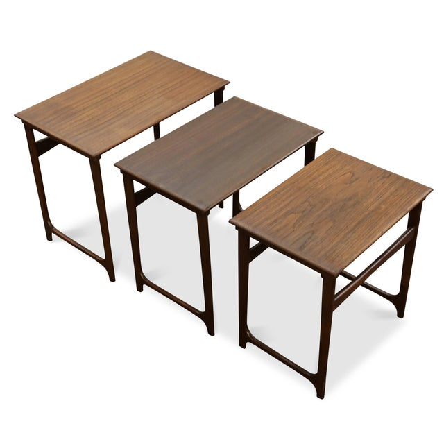 """1950s Danish Modern Nesting Tables - """"Taastrup"""" For Sale - Image 5 of 7"""