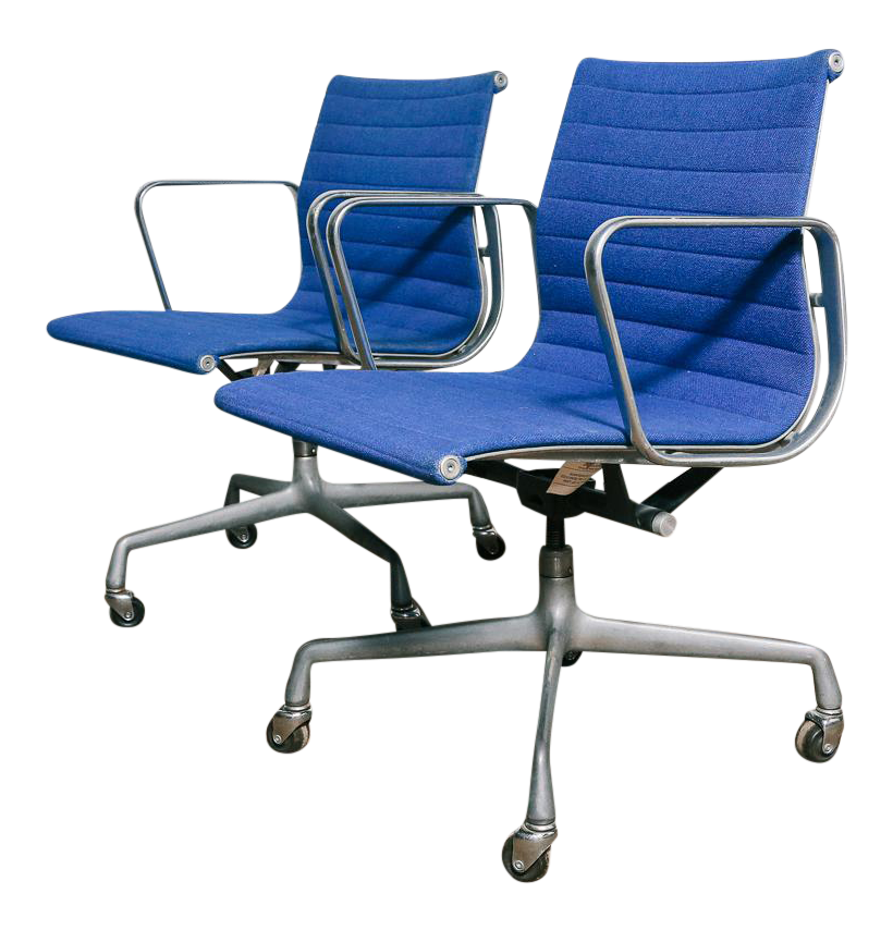 industrial office chair. Vintage Eames Aluminum Group Office Chairs \u2013 A Pair Industrial Chair