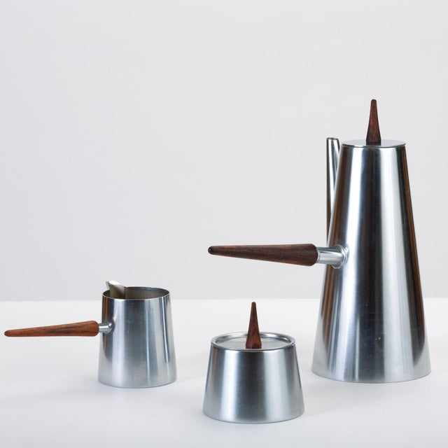 Mid 20th Century Italian Modern Coffee or Tea Service With Rosewood Handles For Sale - Image 5 of 13