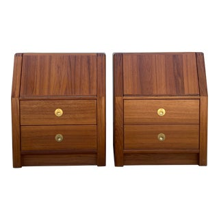 diScan Teak 2 Drawer Nightstands - a Pair For Sale