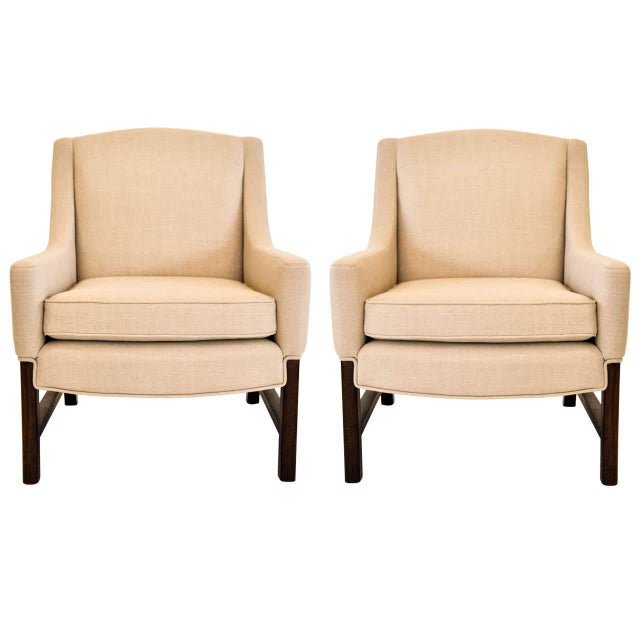 Lounge Chairs Attributed to Edward Wormley for Dunbar, 1950s For Sale - Image 9 of 9