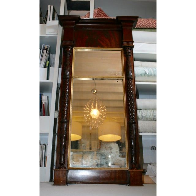 Antique Mahogany Mirror - Image 2 of 6