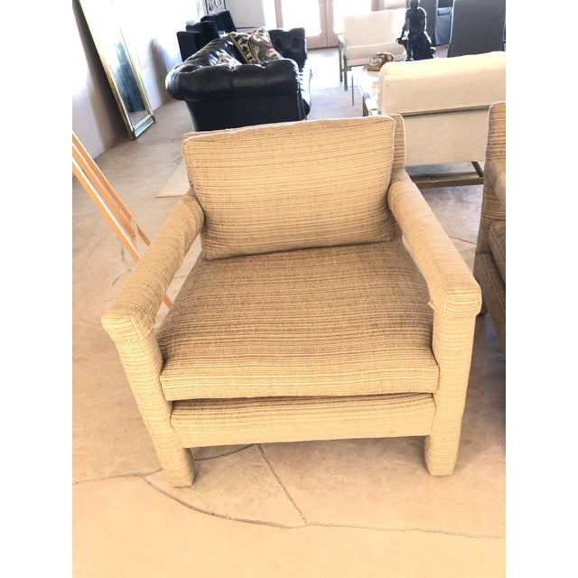 Mid-Century Modern 1970s Vintage Parsons Lounge Chairs - A Pair For Sale - Image 3 of 13