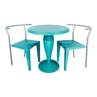 Contemporary Philippe Stark for Kartell Mint Green Bistro Set - 3 Pieces For Sale
