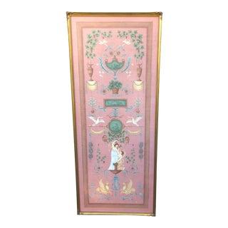 Original Belle Epoque Oil Painting on Canvas Panel For Sale