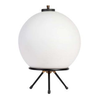 1960s Gilardi & Barzaghi Large Glass Tripod Table or Floor Lamp For Sale