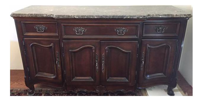 Marble/Granite Top Dining Room Buffet/Sideboard By Bernhardt