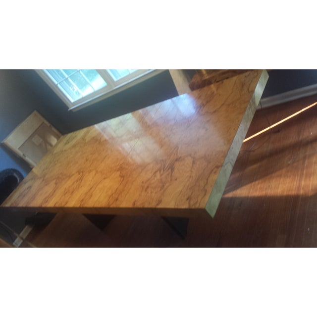 Milo Baughman-Attributed Burl Dining Table - Image 4 of 11