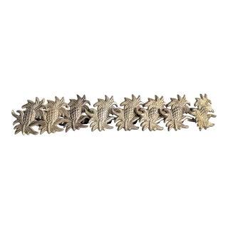 1960s Brass Pineapple Napkin Rings - Set of 8 For Sale