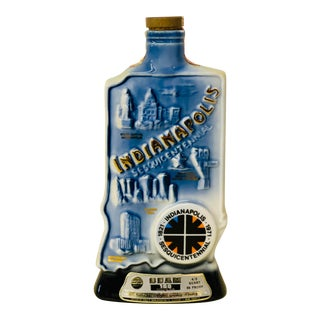 Vintage 1971 Jim Beam Kentucky Bourbon Indianapolis Sesquicentennial Collector's Decanter For Sale