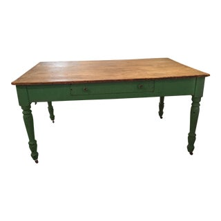 1950s Vintage Farm Table For Sale