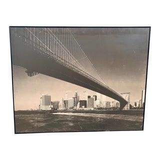 1970s Lower Manhattan Cityscape Photograph, Framed For Sale