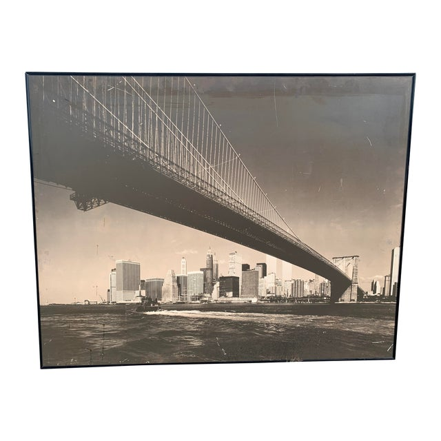 1970s Lower Manhattan Cityscape Photograph, Framed For Sale