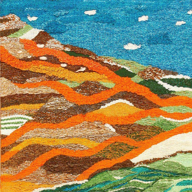 Scandinavian Landscape Tapestry Rug by Christina Knall - 3′ 10″ × 5′ For Sale In New York - Image 6 of 8