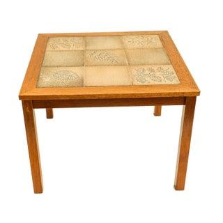 Danish Modern Teak Tile Side Table