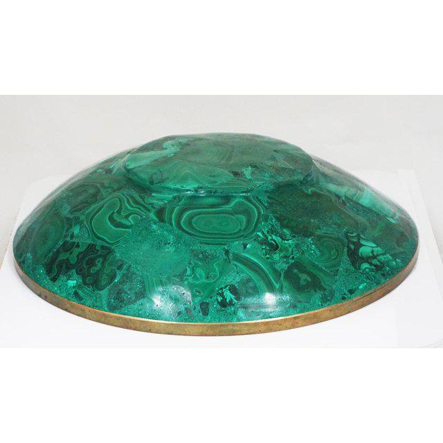 Large Malachite Bowl For Sale - Image 4 of 7