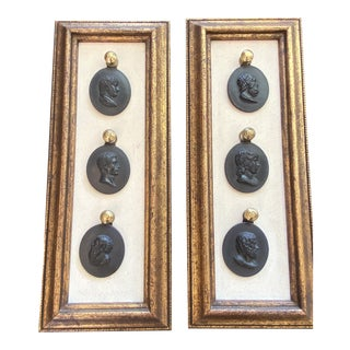Black Intaglios Open Frame - A Pair For Sale