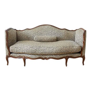 19th Century French Louis XV Style Walnut Canapé Settee For Sale