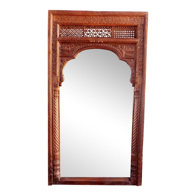 Old Door Full-Length Mirror Frame For Sale