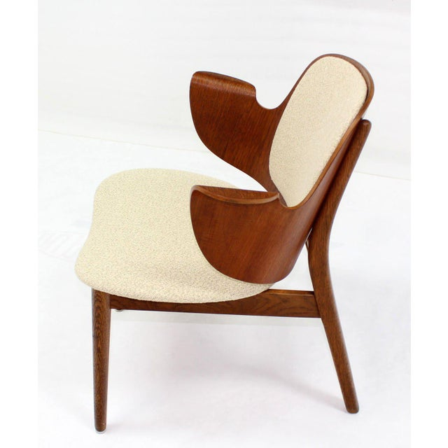 Mid-Century Modern Mid-Century Modern Molded Plywood Barrel Back Armchair with New Upholstery For Sale - Image 3 of 10