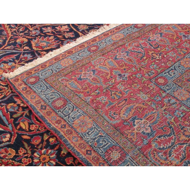 Early 20th Century Antique Kashan Carpet For Sale - Image 5 of 6