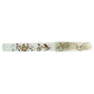 Japanese Shibayama Ivory Page Turner For Sale