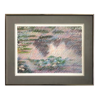 "1960s Vintage Abstract Print ""Reflections of Monet"" For Sale"