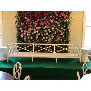 Modern Custom White Outdoor Banquette Preview