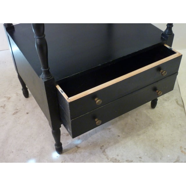 Black Early 20th Century Antique Etagere For Sale - Image 8 of 10
