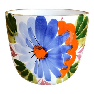Italian Ceramic Flowerpot Planter For Sale