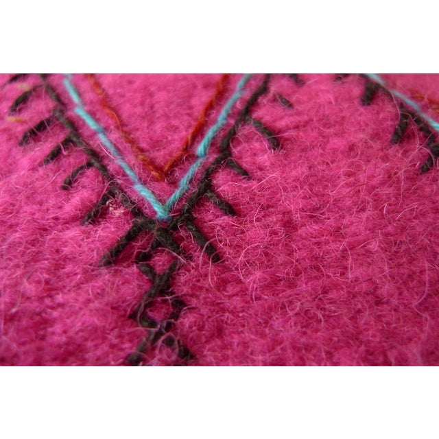 Moroccan Green & Pink Small Wool Rug - 1′9″ × 2′6″ - Image 6 of 6
