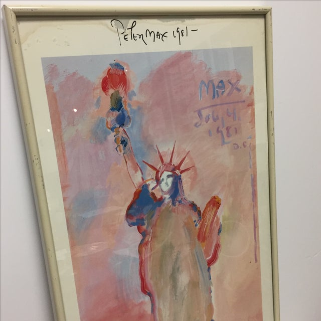 """Contemporary Peter Max Signed """"Statue of Liberty"""" Print For Sale - Image 3 of 9"""