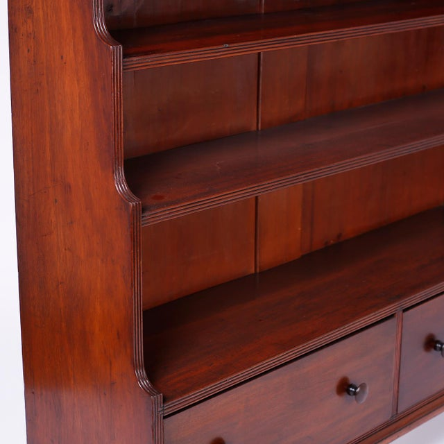 Wood English Step Down Bookcase For Sale - Image 7 of 10