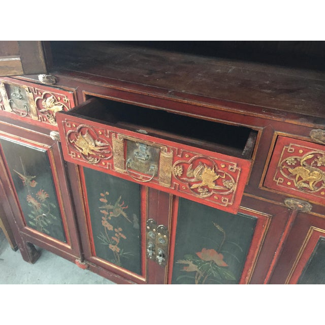 Antique Carved Asian Cabinet For Sale - Image 11 of 13