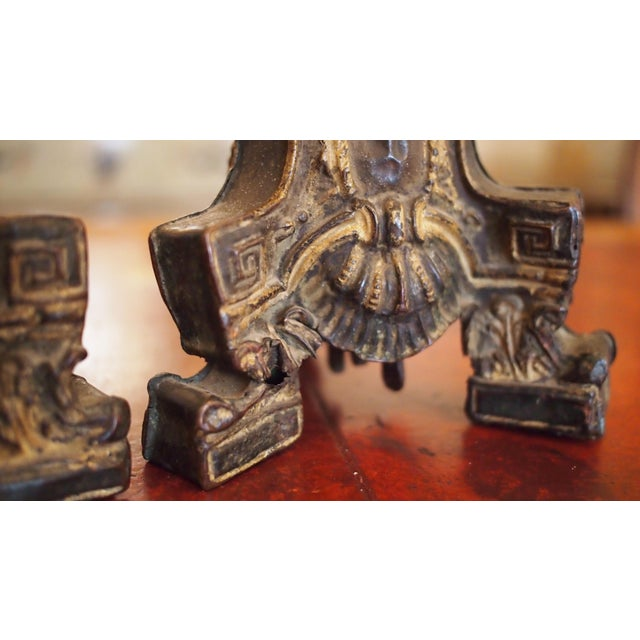 Louis XIV Style Tole Candlesticks For Sale - Image 4 of 11