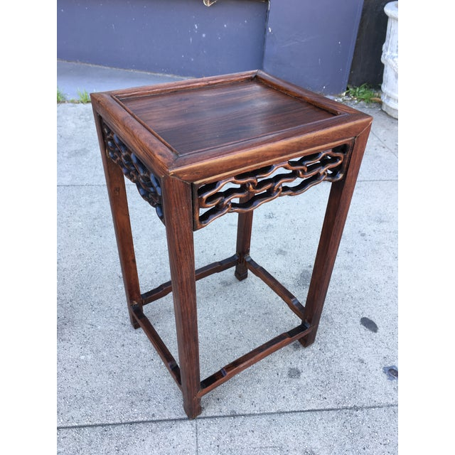 Wood 20th Century Chinese Rosewood Nesting Tables - Set of 4 For Sale - Image 7 of 12