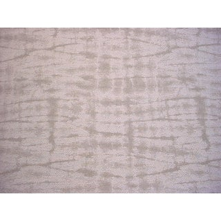 3-3/8y Scalamandre 27089 Shibori Weave Flax Silk Linen Ikat Upholstery Fabric For Sale