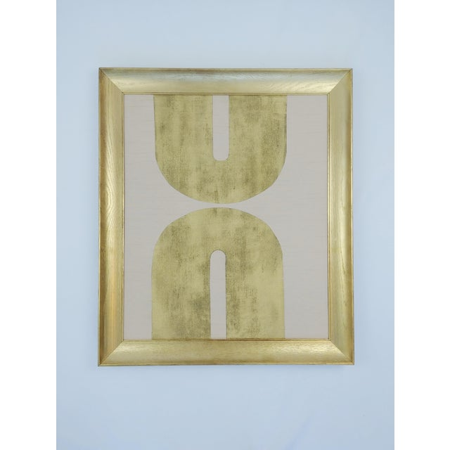 Gold 2020s Panton Style Pink + Gold Framed Collage For Sale - Image 8 of 8