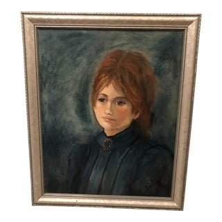 Artist Signed Self Portrait Oil Painting For Sale