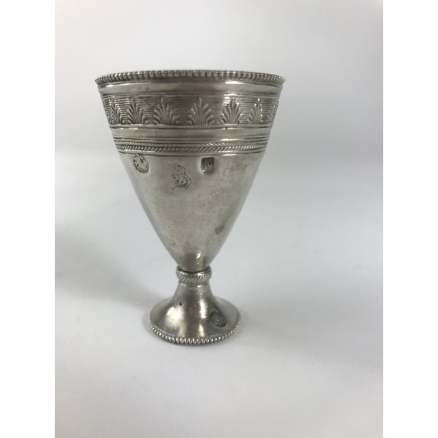 3cf6914e0cdf Beautiful marked sterling silver egg cup. This cup is lovely with a  beautifully restrained design