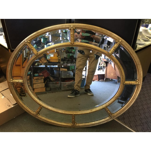 1990s Oval Gold Mirror For Sale - Image 5 of 8