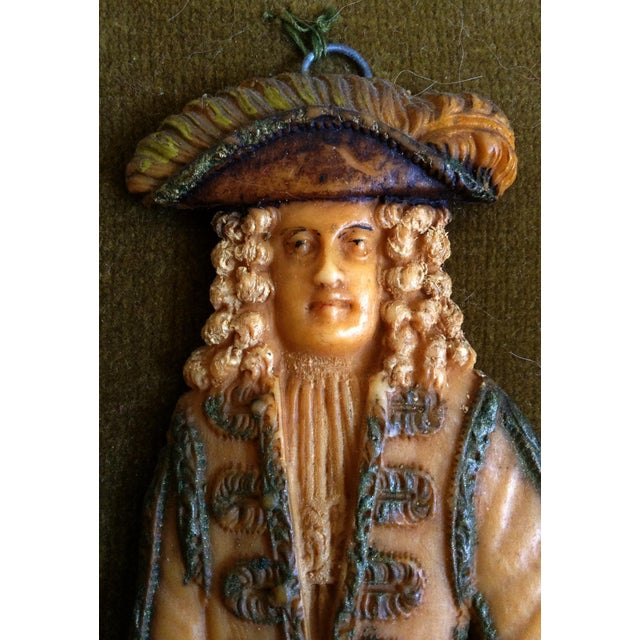English Traditional European Wax Gentleman's Portrait For Sale - Image 3 of 4