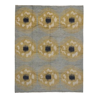 Modern Moroccan Style Rug with Abstract Circles For Sale